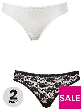 dorina-sonia-2-pack-lace-briefs-blackwhite
