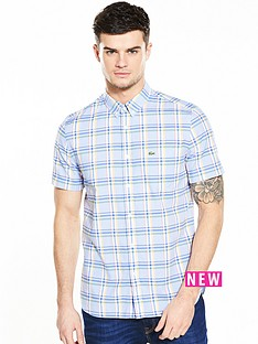 lacoste-sportswear-short-sleeve-checked-shirt