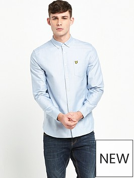 lyle-scott-long-sleeve-oxford-shirt