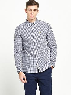 lyle-scott-long-sleeve-gingham-shirt