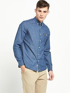 lyle-scott-long-sleeve-denim-shirt