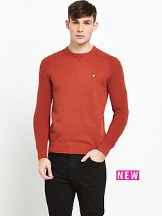 lyle-scott-rib-sleeve-jumper
