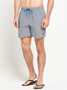 lyle-scott-gingham-swim-shorts
