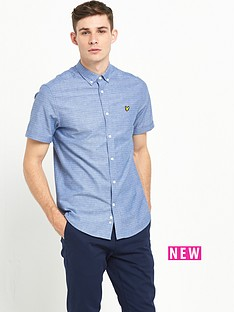 lyle-scott-short-sleeve-multicoloured-stitch-shirt
