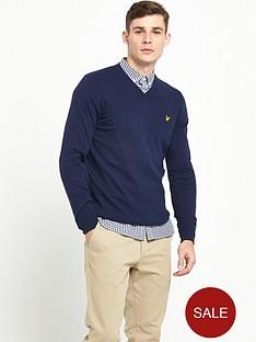 lyle-scott-v-neck-cotton-merino-jumper