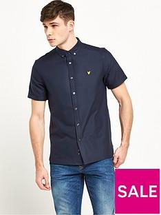 lyle-scott-short-sleeve-oxford-shirt