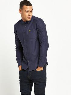 lyle-scott-long-sleeve-oxford-shirt-navy