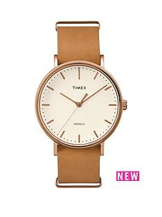 timex-timex-fairfield-white-dial-brown-strap-mens-wach