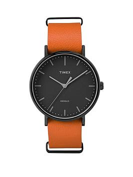 timex-timex-weekender-fairfield-black-dial-brown-strap-mens-watch