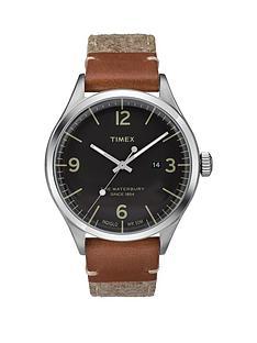 timex-timex-waterbury-black-date-dial-brown-strap-mens-watch