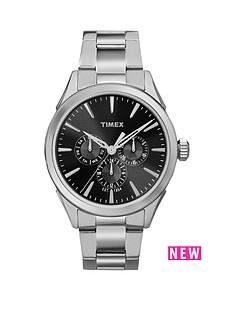 timex-timex-chesapeake-multi-function-black-dial-stainless-steel-bracelet-mens-watch