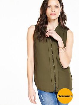 v-by-very-tie-neck-sleeveless-blouse-khakinbsp