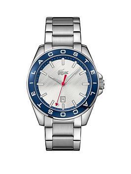 lacoste-lacoste-westcoast-silver-dial-blue-bezel-stainless-steel-bracelet-mens-watch