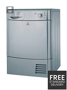 indesit-idc8t3bs-8kg-load-condenser-tumble-dryer-silver