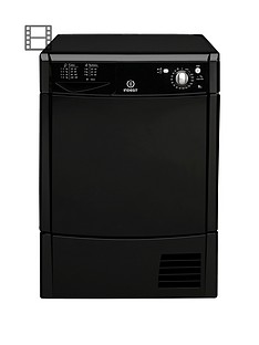 Indesit IDC8T3BK 8kg Condenser Tumble Dryer - Black Best Price and Cheapest