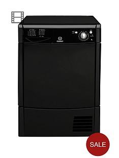 indesit-idc8t3bk-8kg-condenser-tumble-dryer-black