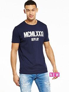 replay-printed-logo-tshirt