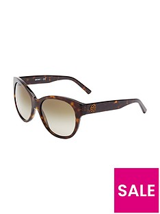 dkny-cateye-logo-sunglasses