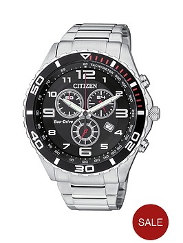 citizen-eco-drive-black-dial-chronograph-stainless-steel-mens-watch
