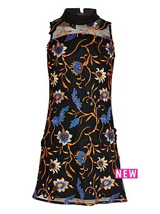 river-island-girls-orange-embroidered-mesh-panel-dress