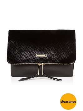 river-island-velvet-flocked-foldover-clutch