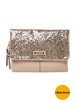 river-island-sequin-foldover-clutch-pinknude