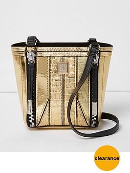 river-island-zip-front-detail-mini-bag-gold