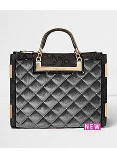 river-island-quilted-velvet-studded-tote