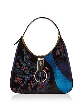 river-island-embossed-velvet-slouch-bag