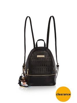 river-island-lazer-cut-detail-backpack