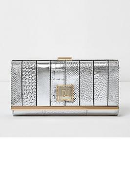 river-island-metallic-block-striped-purse-silver