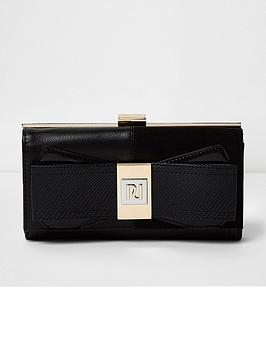 river-island-bow-front-purse-black