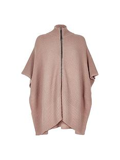 river-island-zip-front-poncho
