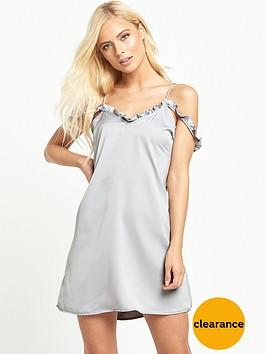 motel-panchanbspfrill-slip-dress-silver