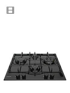hotpoint-pcn642thbk-60cm-built-in-gas-hob-black