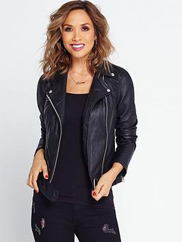 Myleene Klass Leather Jacket - Black | very.co.uk