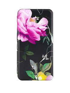 ted-baker-venece-folio-case-with-mirror-for-iphone-67-plus-citrus-bloom-black