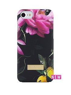 ted-baker-soft-feel-case-for-iphone-67-citrus-bloom-black