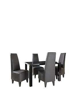 atlantic-120-cm-gloss-dining-table-4-manhattan-chairs