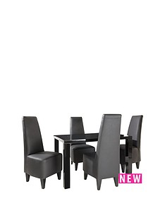 atlantic-fixed-top-gloss-table-amp-4-new-manhattan-chairs-buy-and-save