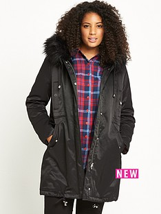 lost-ink-curve-fur-trim-parka