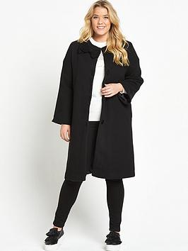 lost-ink-curve-textured-bell-sleeve-coat