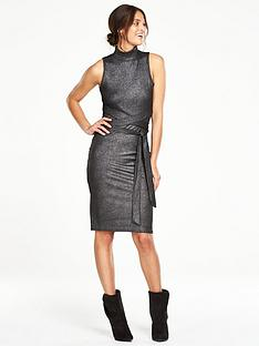 v-by-very-metallic-rib-tie-waist-dress