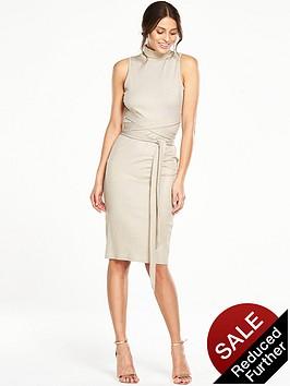 v-by-very-metallic-rib-tie-waist-jersey-dress
