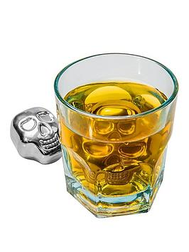 skull-shaped-stainless-steel-ice-cubes