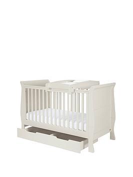 mamas-papas-mia-cot-bed-under-bed-storage-amp-cot-top-changer-grey