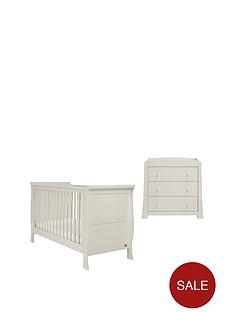 mamas-papas-mamas-amp-papas-mia-sleigh-cot-bed-and-dresser--grey
