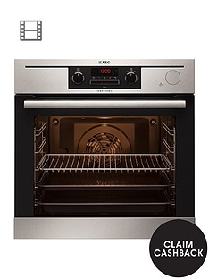 aeg-bp501432wm-built-in-electric-single-oven-with-steam-function-stainless-steel