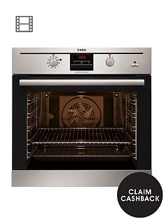 aeg-bp300306km-electric-built-in-single-oven-with-steam-function-stainless-steel