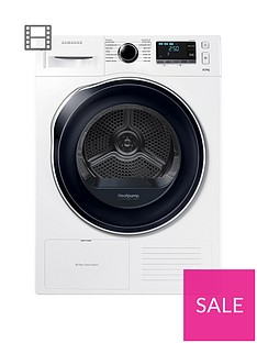 Samsung DV80K6010CW/EU 8kgLoad Tumble Dryer with HeatPump Technology - White